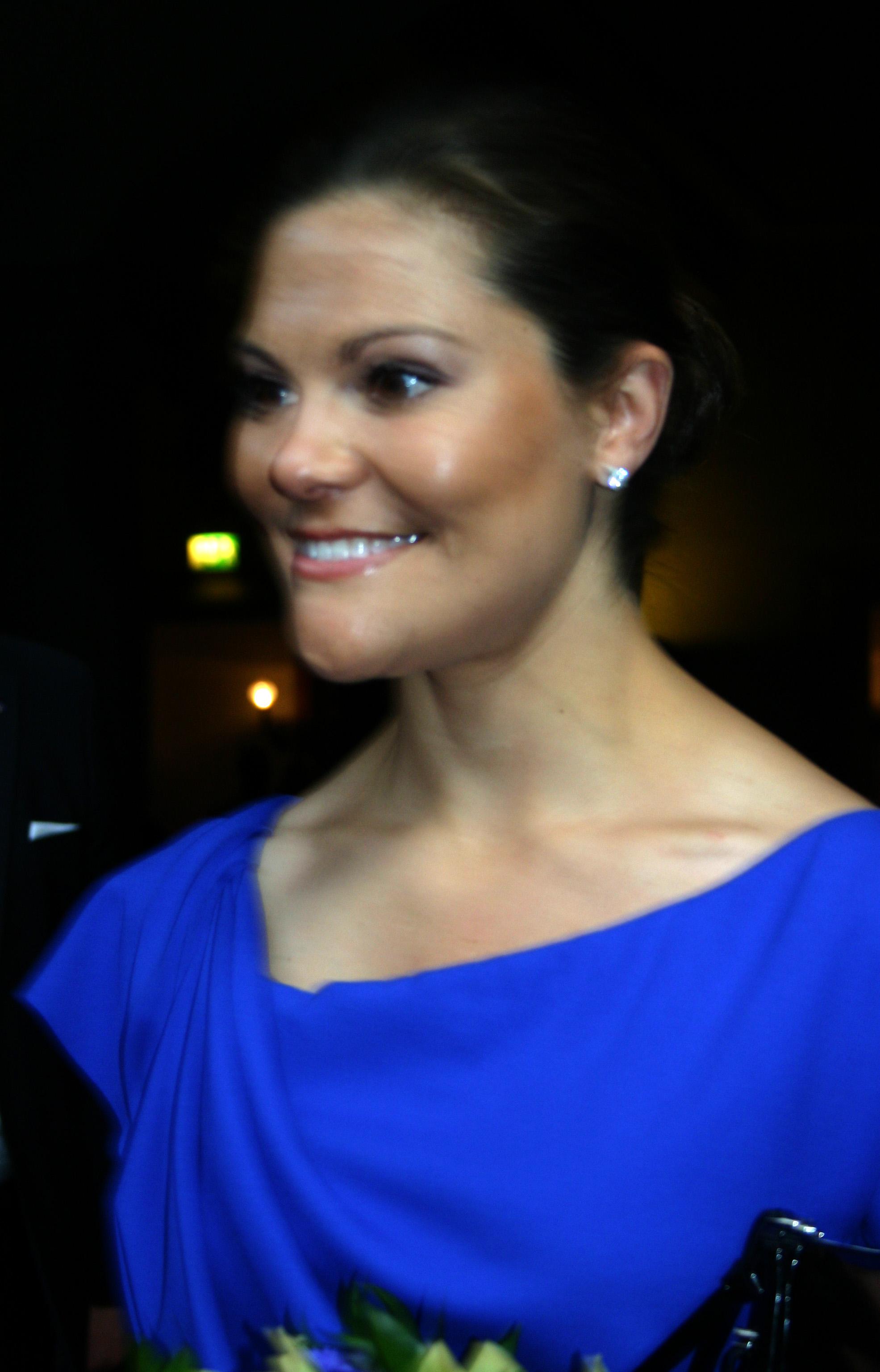 Victoria fotograferad i samband med cermonin för att bli svensk
