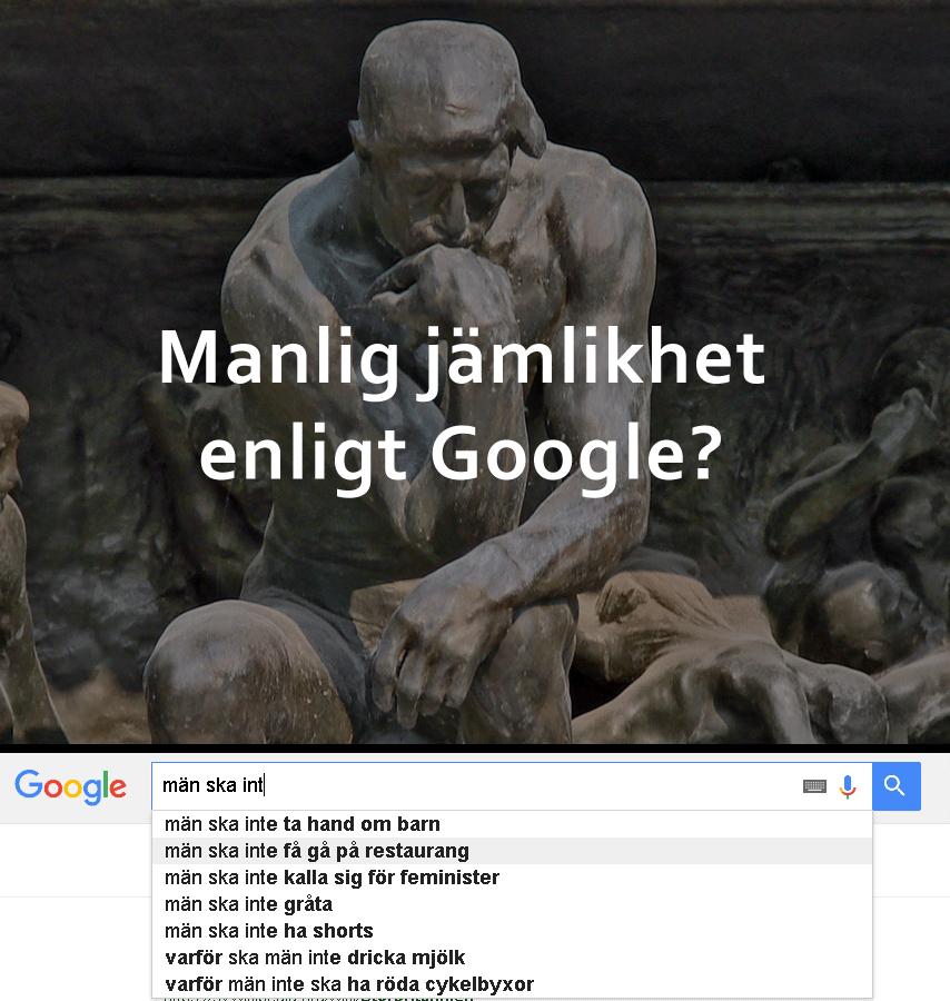 Manlighet enligt Google