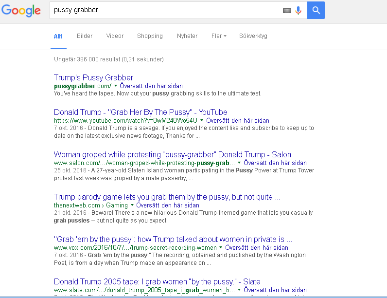 Pussygrabber Donald Trump