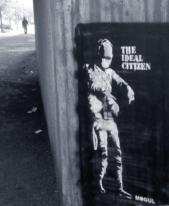 Genialisk graffiti och outdoor konst
